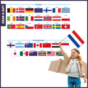Grab a Gift - Zwaaivlaggetjes nederlandse belgische europese vlag