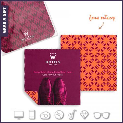 Grab a Gift - Microvezel brillendoekjes bedrukken 18 x 18 cm