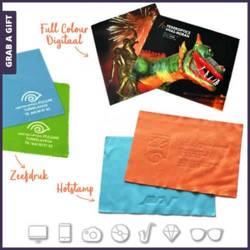 Grab a Gift - Microvezel doekjes 15 x 18 cm bedrukken met logo