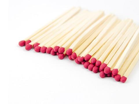 Grab a Gift - rode lucifers in bedrukt luciferdoosje