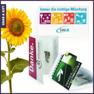 Grab a Gift Flower-Card - bedrukt kaartje nmet zaadjes van bloemen of kruiden