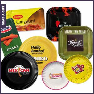 Grab a Gift - Kartonnen Papieren bordjes bedrukken met logo