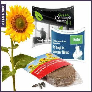 Grab a Gift Plant-Tab - gondeldoosje met turschijfje en zaadjes bedrukken