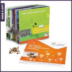 Grab a Gift Seed-Card - bedrukt kaartje met bloemzaadjes achter venster