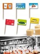 Grab a Gift - leverancier voor bedrukte kaasprikkers met vlaggetje