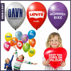 Grab a Gift - Ballonnen bedrukken met logo aan 1 of 2 zijdes