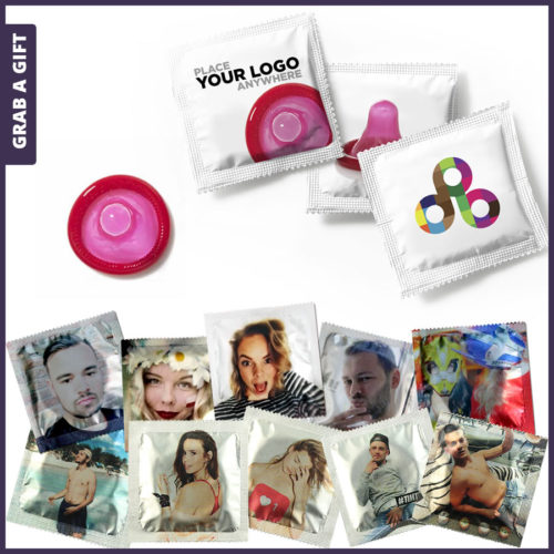 Grab a Gift - Condoom Classic bedrukken met logo of foto