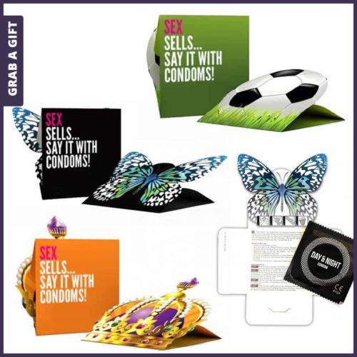 Grab a Gift - Condoom-mapjes op maat Full Colour bedrukken