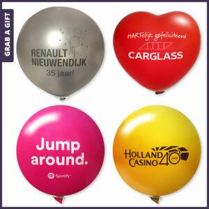 Grab a Gift - Reuze grote ballonnen bedrukken met logo