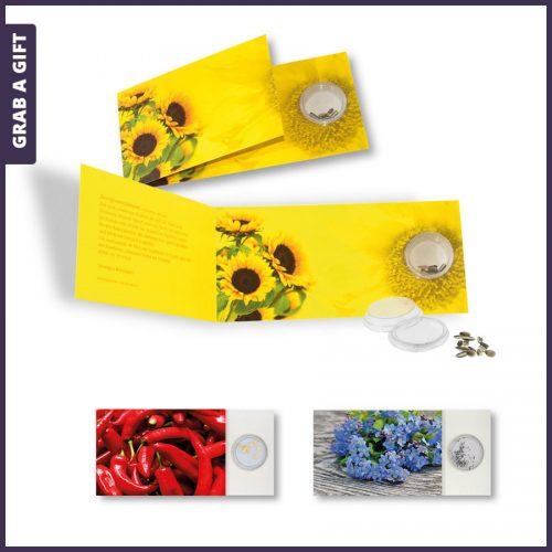 Grab a Gift - Wenskaart met bloemzaadjes bedrukken