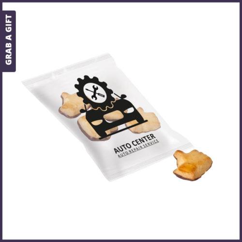 Grab a Gift - Like koekjes in transparante of witte folie met jouw logo
