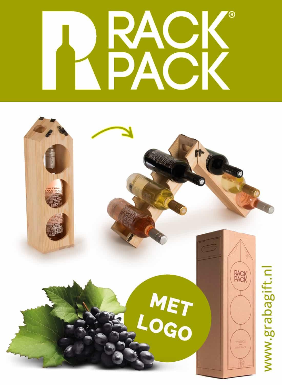 Rackpack Original met Logo Gravering van Grab a Gift