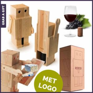 Grab a Gift - Robox wijnkistje graveren met logo