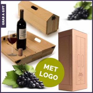 Grab a Gift - Tray Chique wijnkistje van RackPack graveren met logo