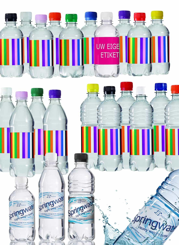 Grab a Gift - Bronwater met eigen etiket en platte dop