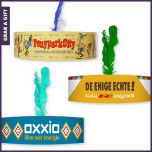 Grab a Gift - Kartonnen indianentooi bedrukken met logo