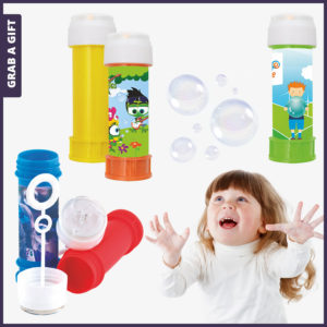 Grab a Gift - Bellenblaas bedrukken met logo of foto