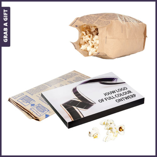 Grab a Gift - Magnetron popcorn bedrukken met logo