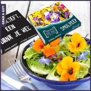 Grab a Gift - Smulreep met eetbare bloemen bedrukken met logo