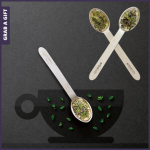 Grab a Gift - houten theelepel met thee en honing bedrukken met logo
