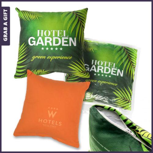 Grab a Gift - Microvezel kussens bedrukken met logo