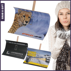 Grab a Gift - Sneeuwschuiver Sneeuwschep met logo als relatiegeschenk