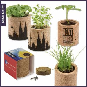 Grab a Gift - Kurken plantenpotjes met zaadjes