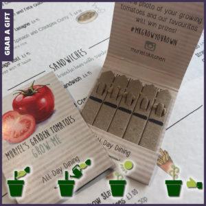 Grab a Gift Seed Stick - biologisch afbreekbare zaadstokjes in bedrukt mapje