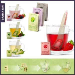 Grab a Gift Tea Spoon - Bedrukt theezakje en theelepel in één