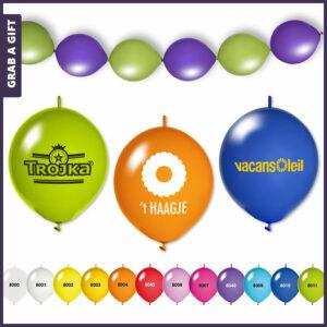 Grab a Gift - Knoopballonnen en Linkballonnen bedrukken met logo