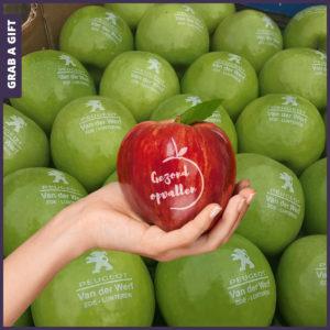 Grab a Gift - Rode of groene appels bedrukken met logo