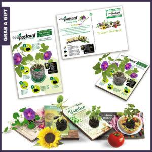 Grab a Gift - Postkaart Ansichtkaart met zaadjes bedrukken