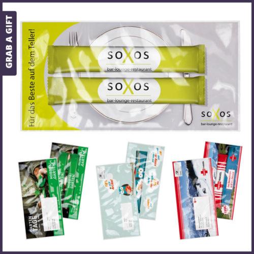 Grab a Gift - Theestaafjes bedrukken met logo voor mailing