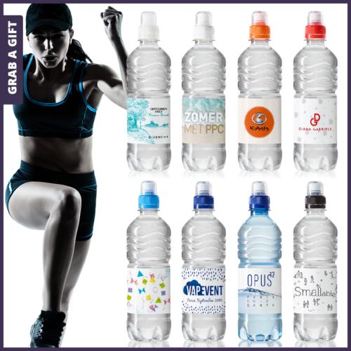 De handige sportdop van dit transparante PET flesje is verkrijgbaar in maar liefst7 verschillende kleuren.