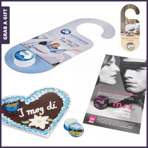 Grab a Gift - Full Colour bedrukte kaarten voor lippenbalsem potjes