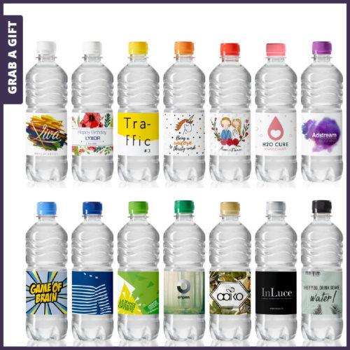 Grab a Gift - Geribbelde waterflesjes van 500 ml bedrukken met logo