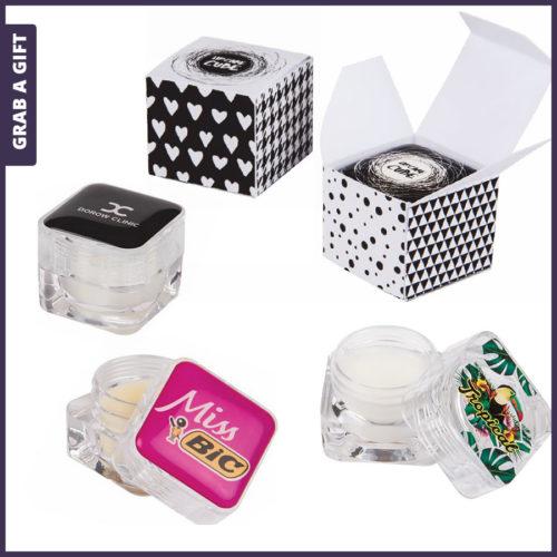 Grab a Gift - Lippenboter CUBE bedrukken met logo