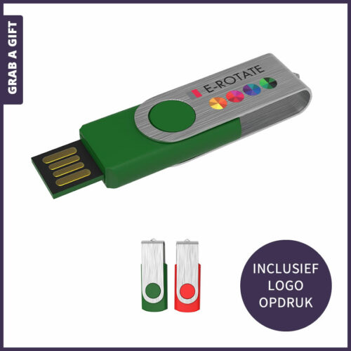 Grab a Gift - USB Stick E-Rotate bedrukken met logo