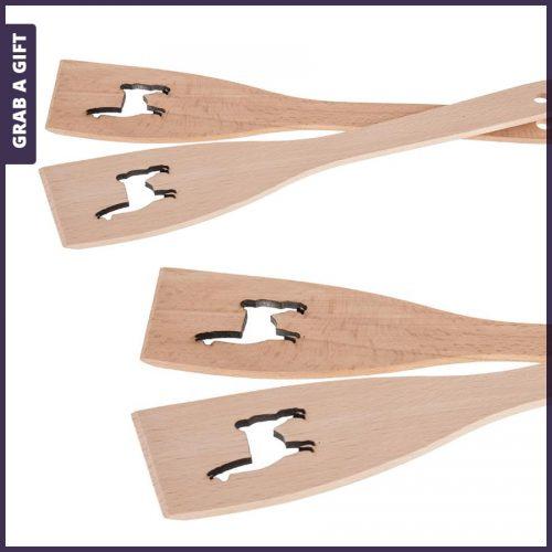 Grab a Gift - Houten spatel met lasergesneden lama en lasergravering in de steelGrab a Gift - Houten spatel met lasergesneden lama en lasergravering in de steel
