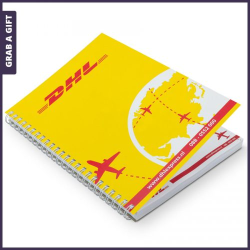 Grab a Gift - Wire-o schrijf- en notitieblokken bedrukken met logo