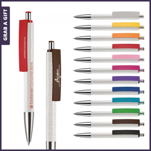 Grab a Gift - e-Fifty XL flash pen rondom bedrukken plus logo opdruk op clip