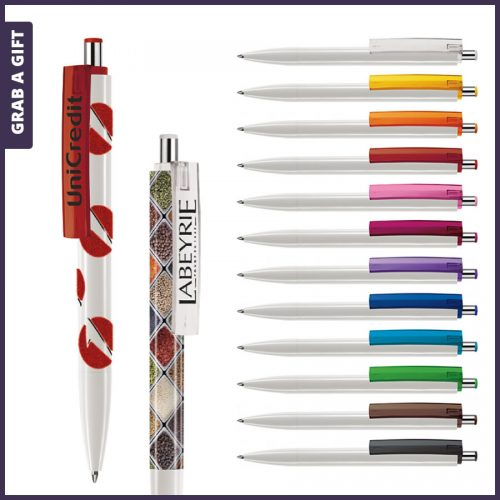 Grab a Gift - e-Forty XL flash pen rondom bedrukken plus logo opdruk op clip