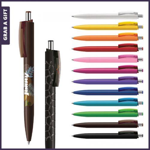 Grab a Gift - e-Forty solid pen rondom bedrukken plus logo opdruk op clip