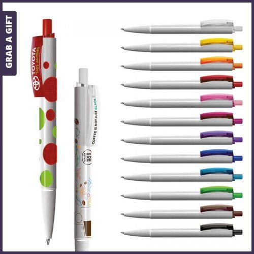 Grab a Gift - e-twenty flash pen rondom bedrukken plus logo opdruk op clip