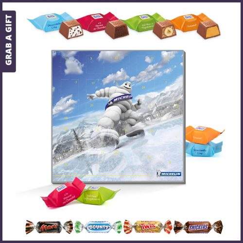 Grab a Gift - Adventkalender vierkant inclusief Full Colour Bedrukking