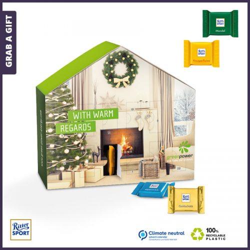 Grab a Gift - Adventskalender in de vorm van een huis volledig bedrukken