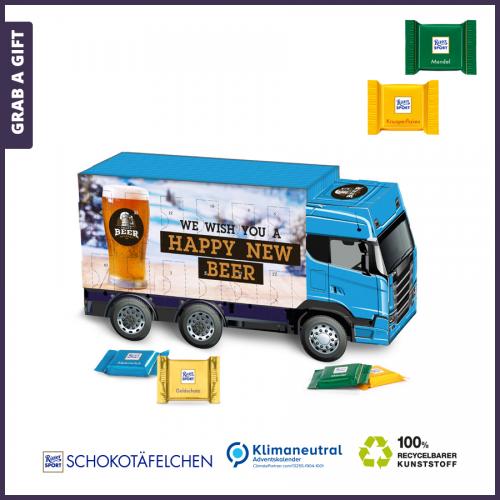 Grab a Gift - Adventskalender in de vorm van een vrachtwagen volledig bedrukken