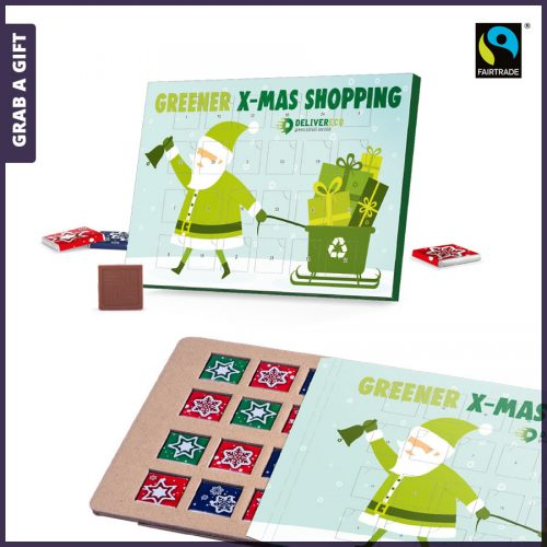 Grab a Gift - Adventskalender van karton volledig bedrukken