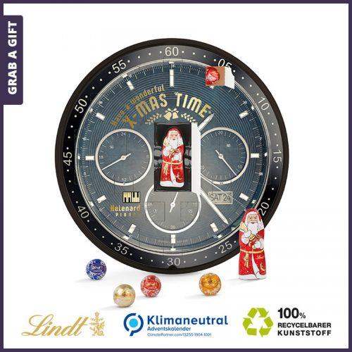 Grab a Gift - Bedrukte ronde adventskalender met Lindt chocolaatjes