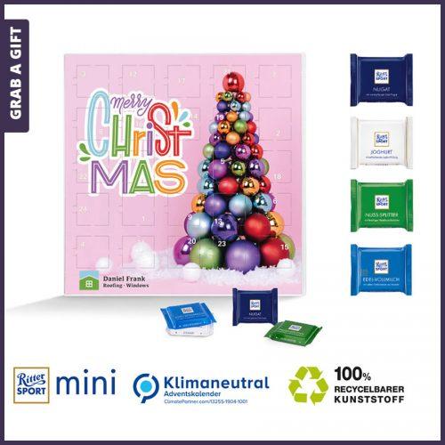 Grab a Gift - Vierkante adventkalender met Ritter Sport Mini bedrukken
